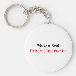 World's Best Driving Instructor Key Ring