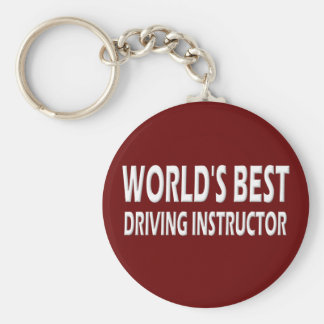 World's Best Driving Instructor Basic Round Button Key Ring