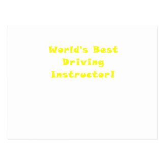 Worlds Best Driving Instructor Postcard
