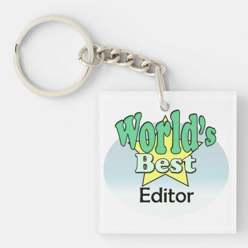 World's best editor acrylic key chains