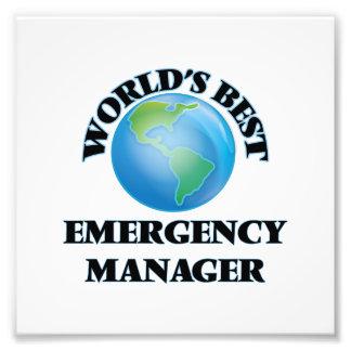 World's Best Emergency Manager Photo Art