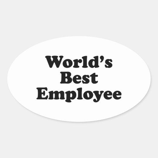 World's Best Employee Oval Sticker