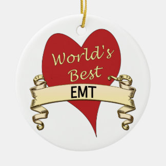 World's Best EMT Christmas Ornament