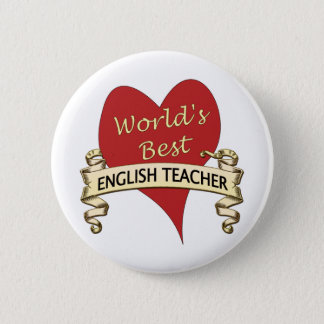 World's Best English Teacher 6 Cm Round Badge