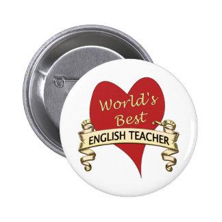 World's Best English Teacher 6 Cm Round Badge