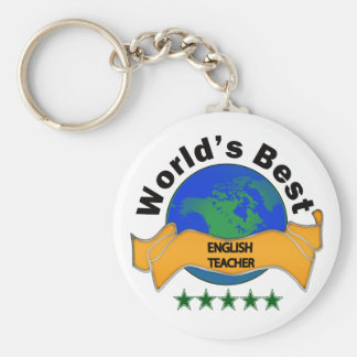 World's Best English Teacher Key Ring