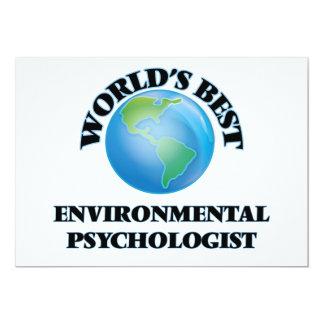 "World's Best Environmental Psychologist 5"" X 7"" Invitation Card"