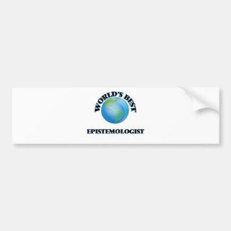 World's Best Epistemologist Bumper Sticker
