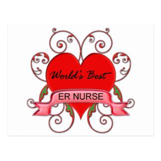 World's Best ER Nurse Postcard