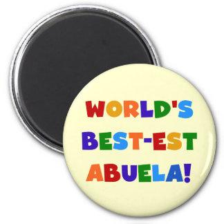 World's Best-est Abuela Bright Colors Tshirts Magnet