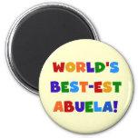 World's Best-est Abuela Bright Colours Tshirts