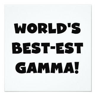 World's Best-est Gamma Black and White 13 Cm X 13 Cm Square Invitation Card