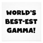 World's Best-est Gamma Black and White Invite