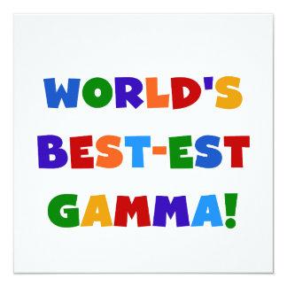 World's Best-est Gamma Bright Colors Gifts 13 Cm X 13 Cm Square Invitation Card