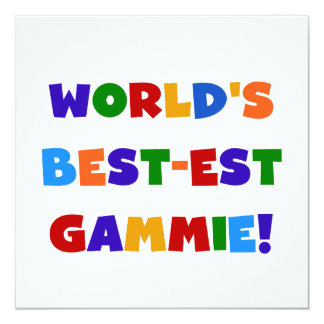World's Best-est Gammie Bright Colors Gifts 13 Cm X 13 Cm Square Invitation Card