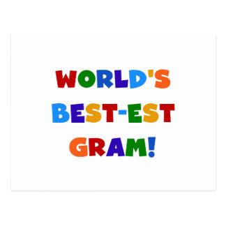 World's Best-est Gram Bright Colors Gifts Postcard