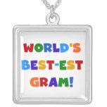 World's Best-est Gram Bright Colours Gifts Necklaces