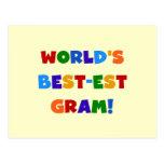 World's Best-est Gram Bright Colours Gifts Postcard
