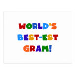 World's Best-est Gram Bright Colours Gifts Post Card