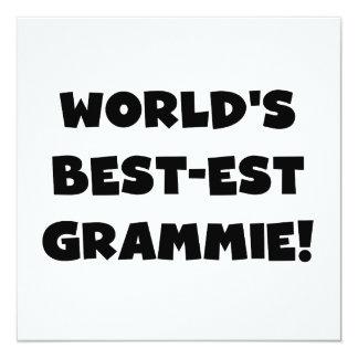 World's Best-est Grammie Black or White Gifts 13 Cm X 13 Cm Square Invitation Card
