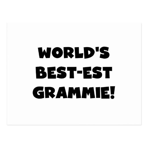 World's Best-est Grammie Black or White Gifts Post Cards