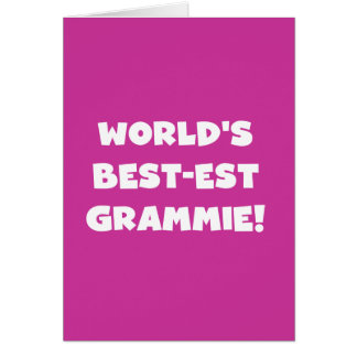 World's Best-est Grammie White T-shirts and Gifts Card