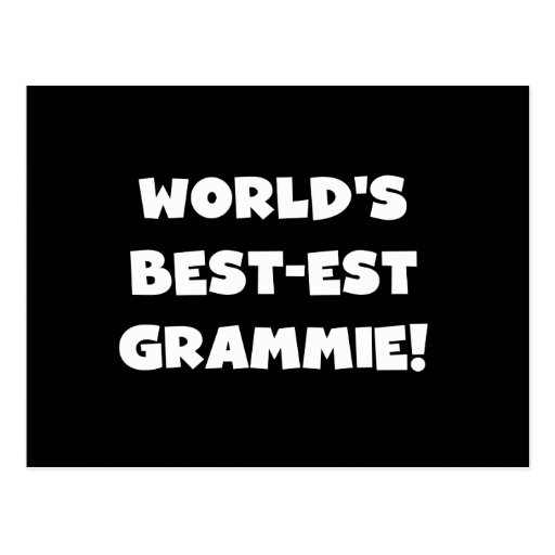World's Best-est Grammie White T-shirts and Gifts Postcards