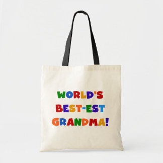 World's Best-est Grandma Bright T-shirts and Gifts Tote Bags