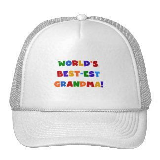 World's Best-est Grandma Bright T-shirts and Gifts Trucker Hats