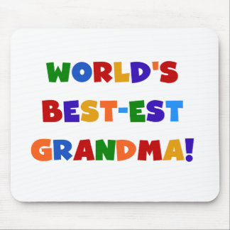 World's Best-est Grandma Bright T-shirts and Gifts Mouse Mat