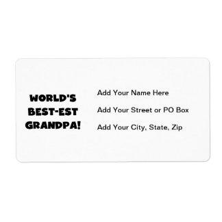 World's Best-est Grandpa Black or White Text Shipping Label