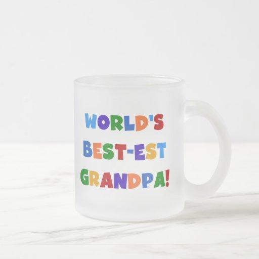 World's Best-est Grandpa Bright Colors Gifts Coffee Mugs