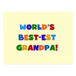 World's Best-est Grandpa Bright Colors Gifts Postcard
