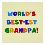 World's Best-est Grandpa Bright Colours Gifts Poster