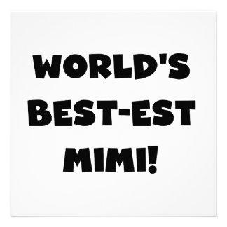 World's Best-est Mimi Black Text T-shirts and Gift Custom Invitation