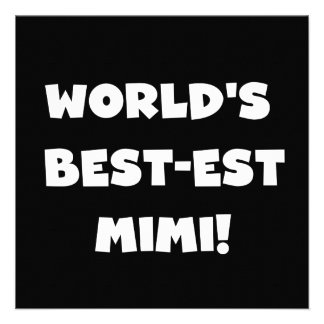 World's Best-est Mimi White Text T-shirts Gifts Personalized Invitation