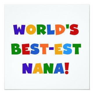 World's Best-est Nana Bright Colors T-shirts 13 Cm X 13 Cm Square Invitation Card