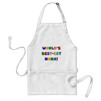 World's Best-est Nana Bright Colors T-shirts Standard Apron