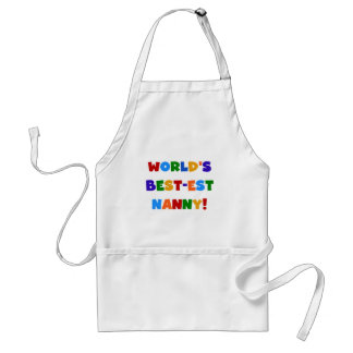 World's Best-est Nanny Bright Colors Gifts Standard Apron