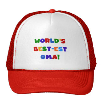 World's Best-est Oma Bright Colors Gifts Cap