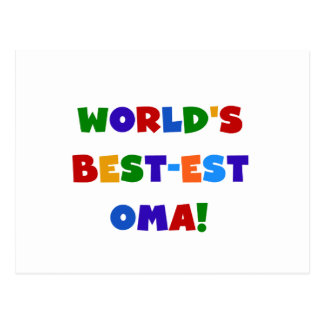 World's Best-est Oma Bright Colors Gifts Postcard