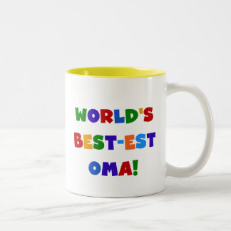 World's Best-est Oma Bright Colors Gifts Two-Tone Coffee Mug
