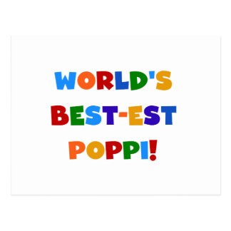 World's Best-est Poppi Bright Colors Gifts Post Cards