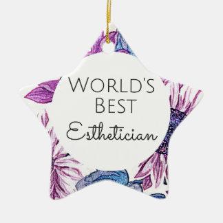 World's Best Esthetician gift 5 Christmas Ornament