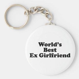World's Best Ex Girlfriend Basic Round Button Key Ring