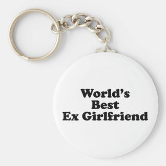 World's Best Ex Girlfriend Basic Round Button Key Ring
