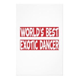 World's Best Exotic dancer. Stationery
