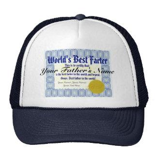 World's Best Farter Funny Dad Prank Mesh Hats