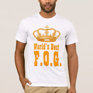 World's  Best Father of the Groom Vintage Crown T-Shirt