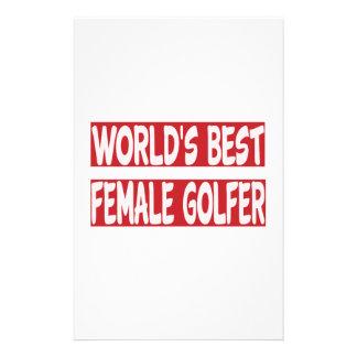 World's Best Female Golfer. Stationery
